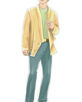 Выкройка: белые брюки арт. ВКК-441-1-ЛК0006058