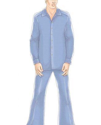 Выкройка: зеленая шелковая рубашка арт. ВКК-963-1-ЛК0006060