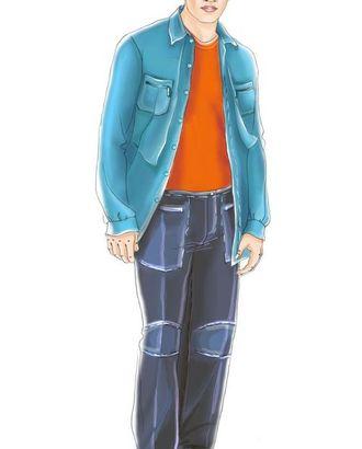 Выкройка: темно-зеленые брюки спортивного стиля арт. ВКК-1582-1-ЛК0006064