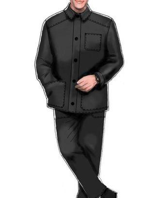 Выкройка: костюм х\б мужской (брюки) арт. ВКК-1225-1-ЛК0006086
