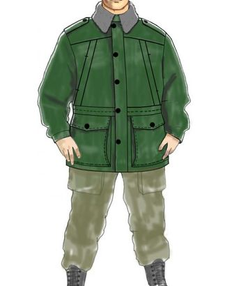 Выкройка: куртка охранника утепленная арт. ВКК-1907-1-ЛК0006089