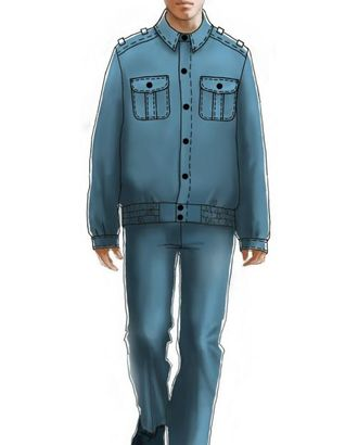 Выкройка: куртка форменная арт. ВКК-720-1-ЛК0006090