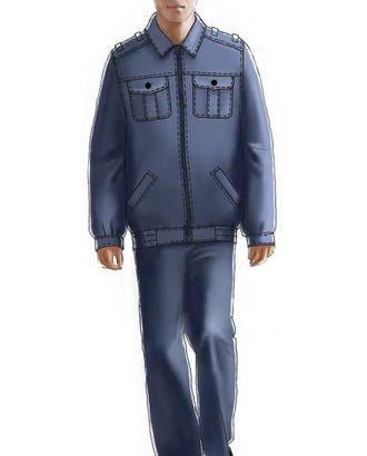 Выкройка: куртка форменная милицейская арт. ВКК-1886-1-ЛК0006091