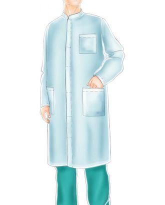 Выкройка: мужской халат белый арт. ВКК-1154-1-ЛК0006092