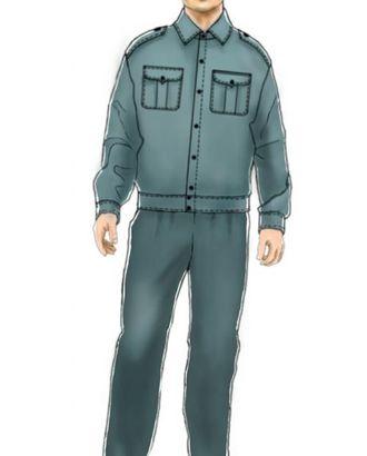 Выкройка: рубашка форменная мужская (тип а) арт. ВКК-991-1-ЛК0006095
