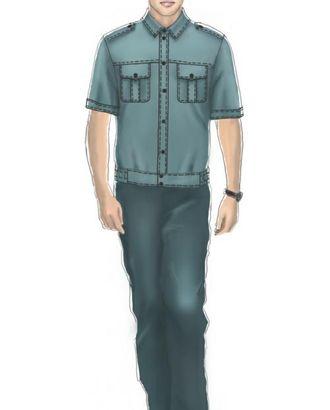 Выкройка: рубашка форменная мужская (тип а1) арт. ВКК-1372-1-ЛК0006096
