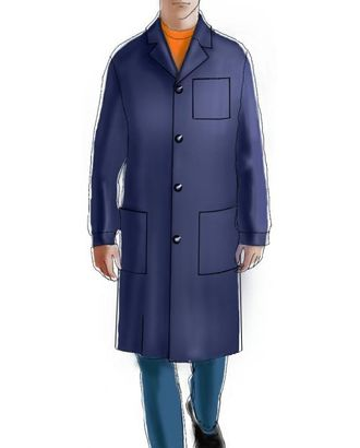 Выкройка: темный мужской халат арт. ВКК-1747-1-ЛК0006097