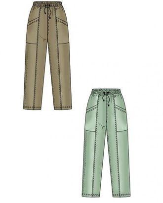 Выкройка: спортивные трикотажные брюки с накладными карманами арт. ВКК-1627-1-ЛК0006100