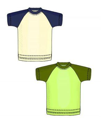Выкройка: футболка с рукавом реглан арт. ВКК-1349-1-ЛК0006107
