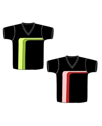 Выкройка: футболка с фигурными полосами арт. ВКК-956-1-ЛК0006108