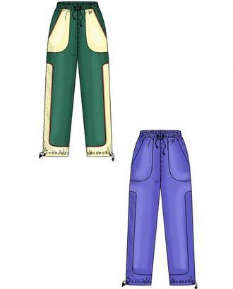 Выкройка: спортивные брюки с боковой вставкой арт. ВКК-1492-1-ЛК0006110
