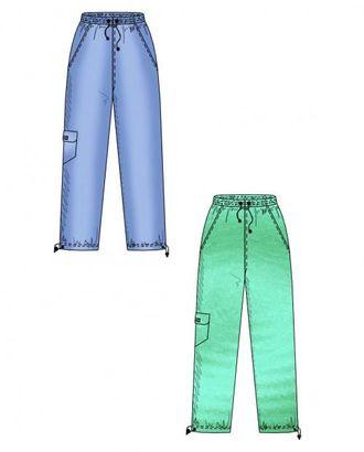Выкройка: спортивные брюки с отрезным бочком арт. ВКК-378-1-ЛК0006111