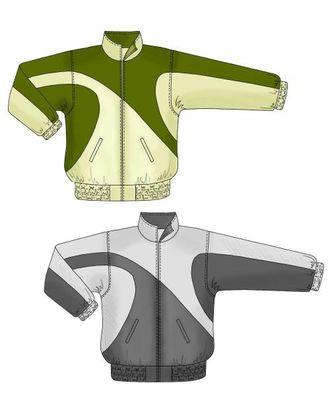 Выкройка: спортивная куртка с асимметричным рисунком арт. ВКК-1791-1-ЛК0006115