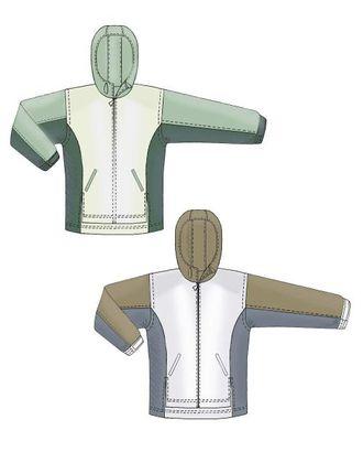 Выкройка: куртка-ветровка арт. ВКК-1619-1-ЛК0006117