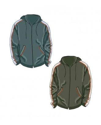 Выкройка: куртка-ветровка с лампасами арт. ВКК-1819-1-ЛК0006118