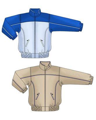 Выкройка: спортивная куртка с кокеткой арт. ВКК-823-1-ЛК0006121