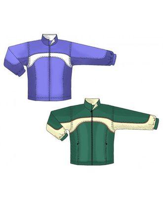 Выкройка: спортивная куртка с карманами в рельефе арт. ВКК-1543-1-ЛК0006122