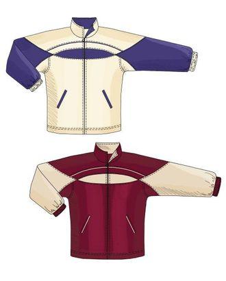 Выкройка: спортивная куртка с круглой кокеткой арт. ВКК-254-1-ЛК0006123