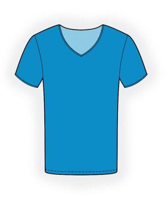 Выкройка: мужская футболка арт. ВКК-681-10-ЛК0006135