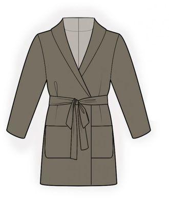 Выкройка: шелковый халат арт. ВКК-1214-1-ЛК0006136
