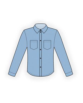 Выкройка: рубашка арт. ВКК-1597-1-ЛК0006138