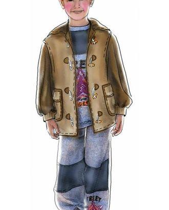 Выкройка: куртка с капюшоном-воротником арт. ВКК-171-1-ЛК0007013