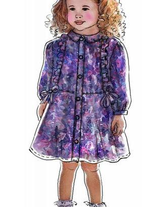 Выкройка: нарядное платье арт. ВКК-1662-1-ЛК0007018