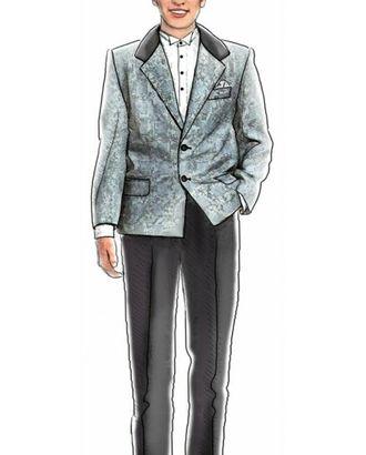 Выкройка: однобортный пиджак арт. ВКК-526-1-ЛК0007019