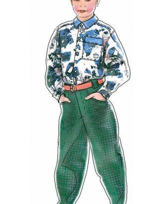 Выкройка: пестрая рубашка арт. ВКК-1271-1-ЛК0007023
