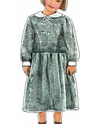 Выкройка: платье с воротничком и манжетами арт. ВКК-1448-1-ЛК0007026