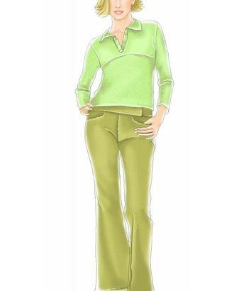"""Выкройка: блузка с застежкой """"поло"""" арт. ВКК-989-1-ЛК0007039"""