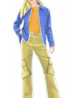 Выкройка: брюки с наклонными карманами арт. ВКК-1835-1-ЛК0007043