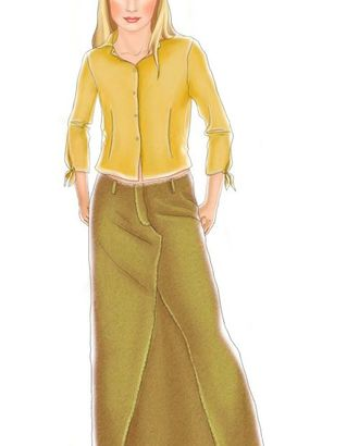 Выкройка: джинсовая юбка арт. ВКК-1031-1-ЛК0007045