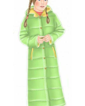 Выкройка: зеленое стеганое пальто арт. ВКК-1104-1-ЛК0007051