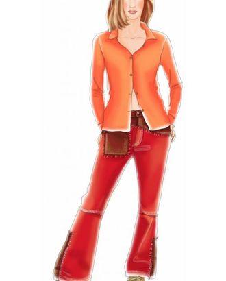 Выкройка: красные джинсы арт. ВКК-1273-1-ЛК0007053