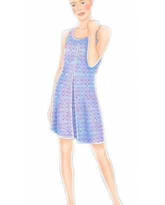 Выкройка: платье без рукавов арт. ВКК-1207-1-ЛК0007058