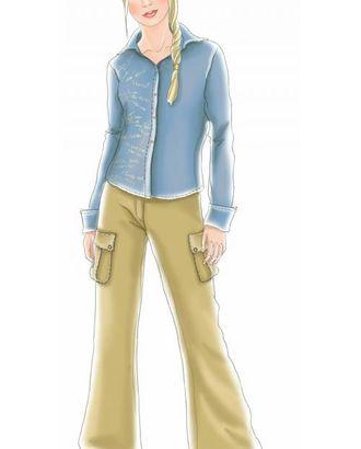 Выкройка: серо-голубая блузка арт. ВКК-1559-1-ЛК0007061