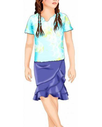 Выкройка: юбка с асимметричными воланами арт. ВКК-1564-1-ЛК0007073
