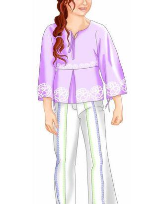 Выкройка: блузка в фольклорном стиле арт. ВКК-1859-1-ЛК0007074