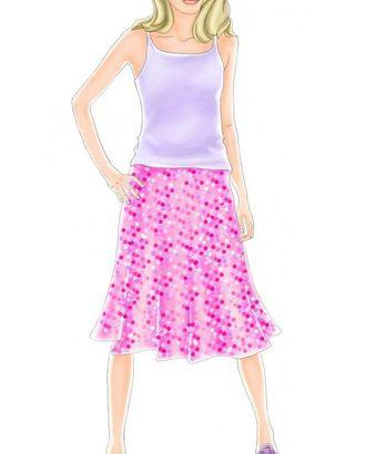 Выкройка: юбка со сборкой арт. ВКК-1867-1-ЛК0007077
