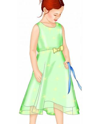 Выкройка: платье с рельефами арт. ВКК-1761-1-ЛК0007087