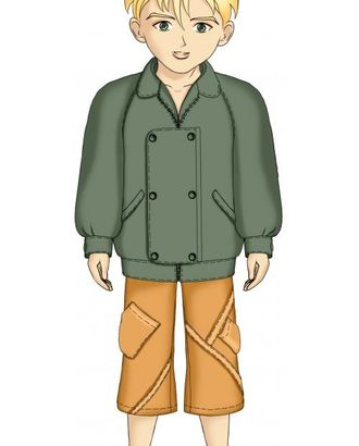 Выкройка: куртка с рукавом реглан арт. ВКК-1802-1-ЛК0007098