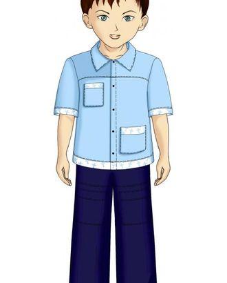 Выкройка: рубашка с асимметричными карманами арт. ВКК-1756-1-ЛК0007103