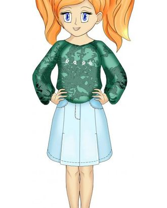 Выкройка: юбка со шлицами арт. ВКК-1715-1-ЛК0007109