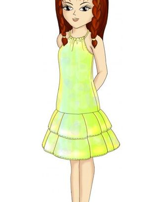 Выкройка: платье со сборкой на груди арт. ВКК-1267-1-ЛК0007111