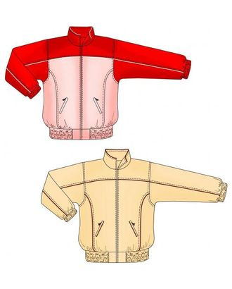 Выкройка: спортивная куртка с кокеткой арт. ВКК-1860-1-ЛК0007148