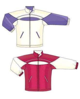 Выкройка: спортивная куртка с круглой кокеткой арт. ВКК-1352-1-ЛК0007150