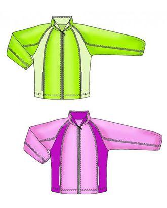 Выкройка: спортивная куртка с рукавом реглан арт. ВКК-1013-1-ЛК0007151