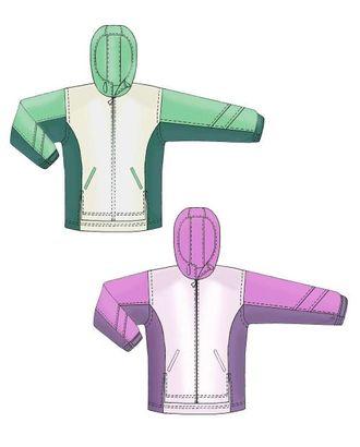 Выкройка: куртка ветровка арт. ВКК-1888-1-ЛК0007152