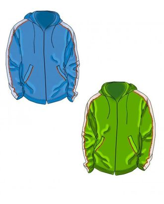 Выкройка: куртка ветровка с лампасами арт. ВКК-896-1-ЛК0007153